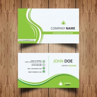 Cartão verde moderno