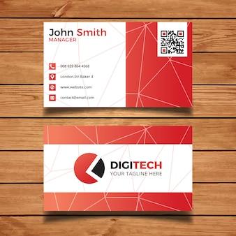 Cartão vermelho da tecnologia