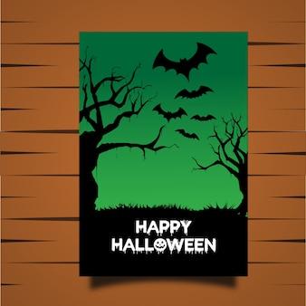 Cartão vetorial halloween