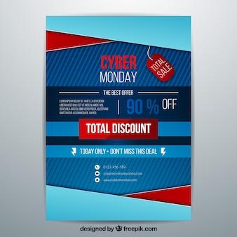 Cartaz azul abstrato da segunda-feira cibernética