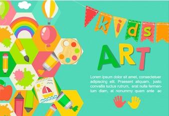 Cartaz de arte temático Kids.