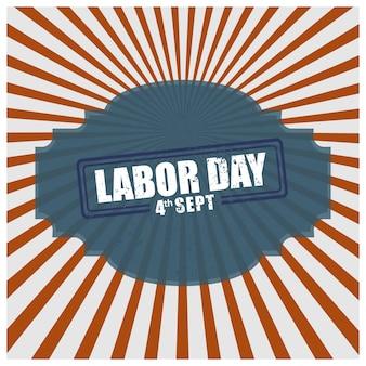 Cartaz de design vintage para o dia do trabalho dos EUA
