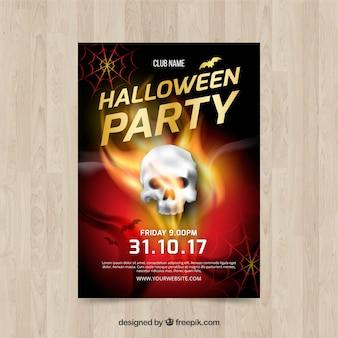 Cartaz de Halloween com caveira
