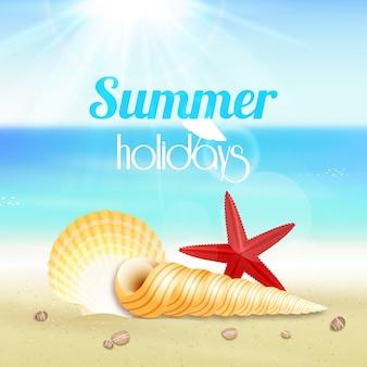 Cartaz de viagens de férias de verão