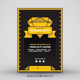 Cartaz do partido do verão do diamante