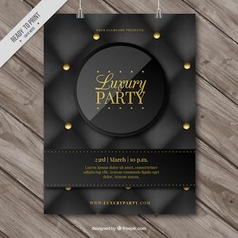 Cartaz elegante da festa de luxo