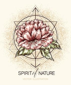 Cartaz floral gráfico