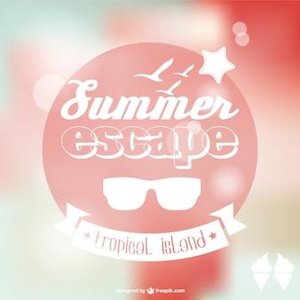 Cartaz fundo do verão