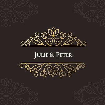 Cartaz luxuoso do casamento