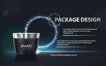 Cartaz para a promoção do produto cosmético hidratante premium