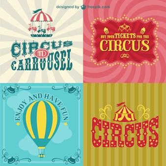 Cartazes de circo definidos