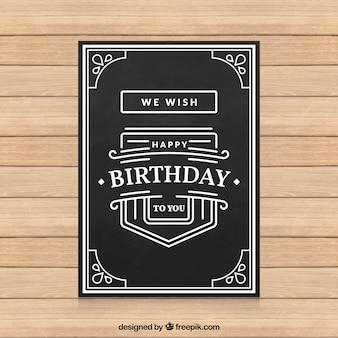 Cartão de aniversário Preto