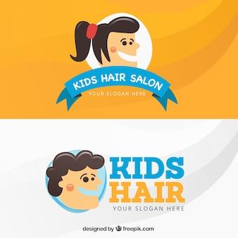 Cartão de visita do cabeleireiro crianças