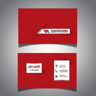 Cartão de visita moderno com um design arrojado