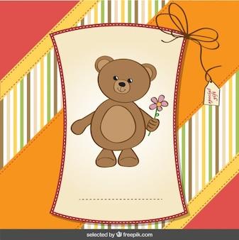 Cartão do urso no estilo do scrapbook