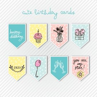 cartões bonitos do aniversário