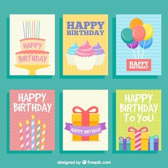 Cartões de aniversário bonitos
