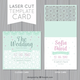 Cartões de casamento decorativos agradáveis