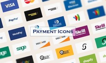 Cartões de crédito de pagamento ícones