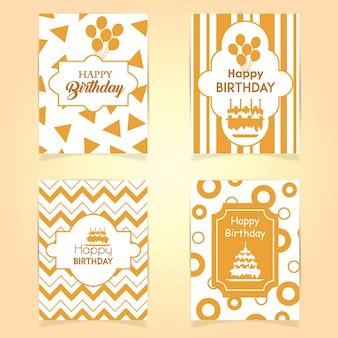 Cartões de feliz aniversario