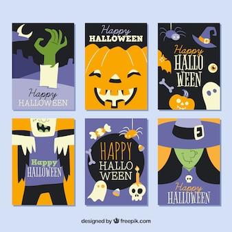 Cartões de Halloween com estilo original