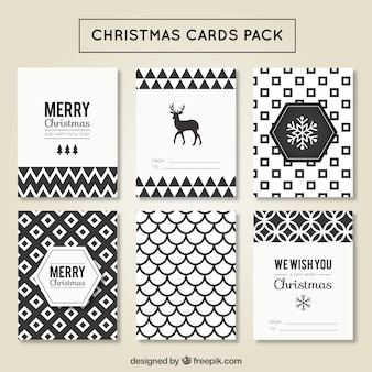 Cartões de Natal pacote geométrico
