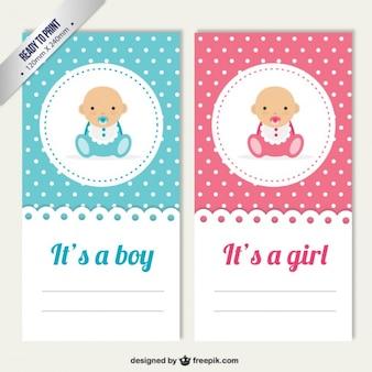 Cartões do sexo do bebê