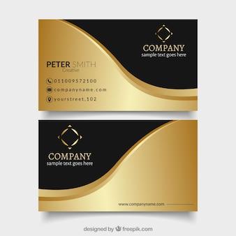 Cartões vip modernos com onda dourada