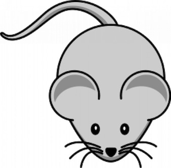 cartoon mouse simples