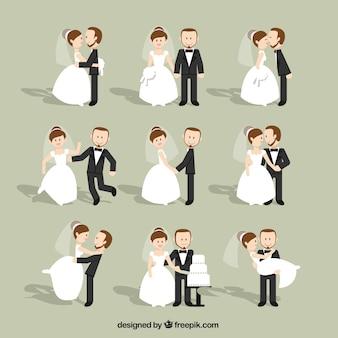 Casais casamento liso Jogo
