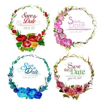 Casamento, floral, grinalda