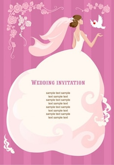 casamento ilustração vetorial convite