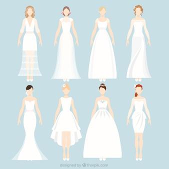 Casamento noivas coleção do vestido