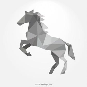 Cavalo poligonal formando por triângulos