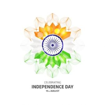 celebrando fundo indiana bonita arte abstrata Floral Dia da Independência