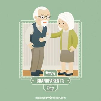 Cena bonita do dia do fundo idosos