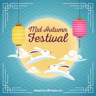 Cena sobre festival de meados de outono