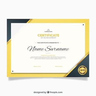 Certificado de luxo de modelo de valorização