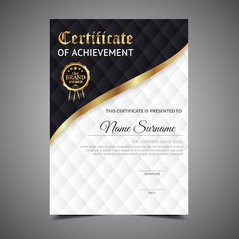 Certificado de realização preto e branco