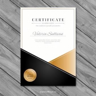 Certificado elegante de reconhecimento