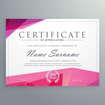 Certificado moderna do modelo de criativo apreciação