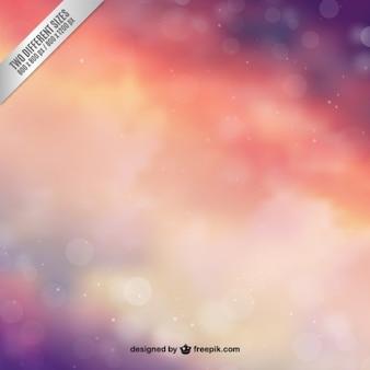 Céu abstrato no estilo colorido