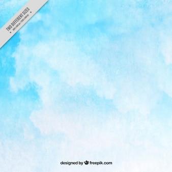 Céu azul aquarela fundo