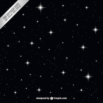 Céu escuro da noite com estrelas de fundo