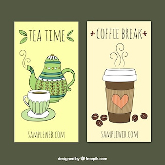 Chá e café banners