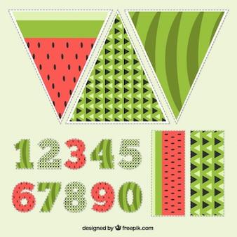 Chapéu de aniversário da melancia
