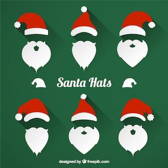 Chapéus de Santa embalar