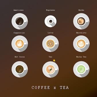 chávenas de café e chá