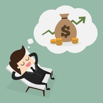 Chefe pensando em dinheiro