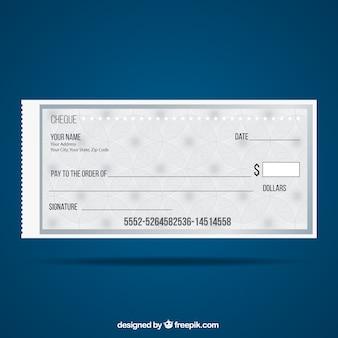 Cheque modelo